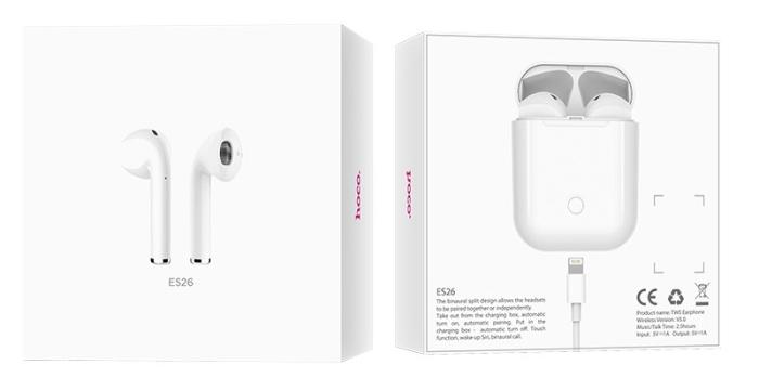 Tai nghe không dây Hoco ES26 Plus hiện đang có sẵn tại Cty Bluetooth Việt Nam. Sản phẩm chính hãng và được bảo hành 12 thánh 1 đổi 1 trên toàn quốc.