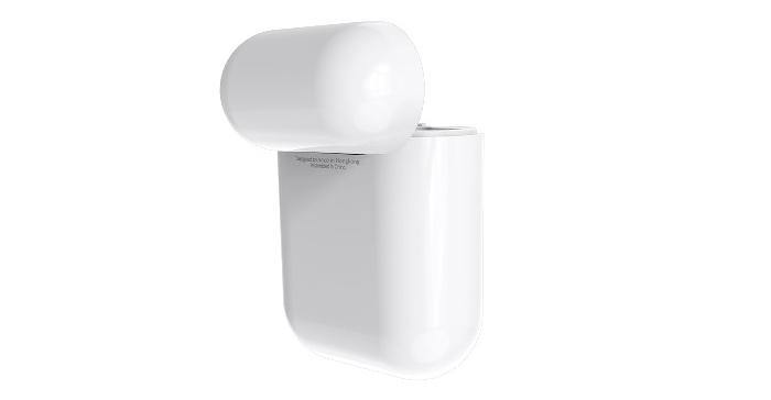 tai nghe có dung lượng pin cho 2,5h nghe nhạc hoặc đàm thoại liên tục và 400mAh của hộp sạc đi kèm
