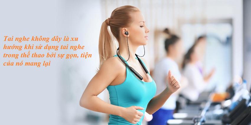 Tai nghe không dây là xu hướng của tai nghe thể thao