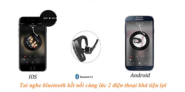 Tai nghe bluetooth kết nối cùng lúc 2 điện thoại