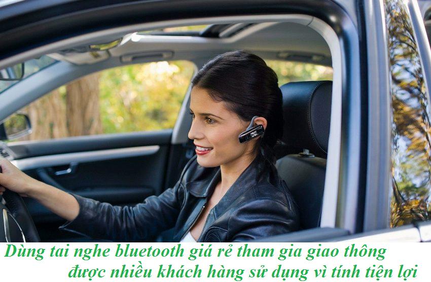 Tai nghe bluetooth giá rẻ tiện lợi khi tham gia giao thông