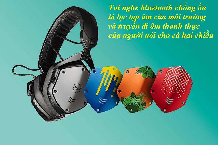 Tai nghe bluetooth chống ồn là lọc tạp âm của môi trường và truyền đi âm thanh thực của người nói cho cả hai chiều